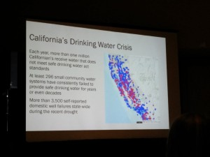 Kirsten talked about small water supplies in California